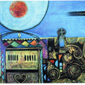 <em>The Shrine</em>, Oil pastel, 2003