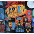 <em>Ujima</em>, Oil pastel, 70 x 100cm, 2001
