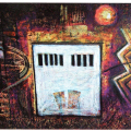 <em>Untitled</em>. mixed media on canvas, 2001