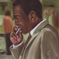 2009, Smoker, Oil on board, 18x18cm
